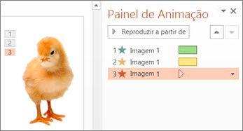 Aplicar várias animações a um objeto