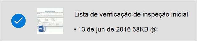 Arquivo do OneDrive marcado como offline