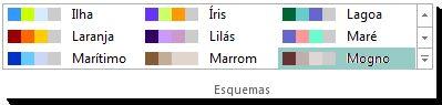 Galeria de seleção de esquemas de cores