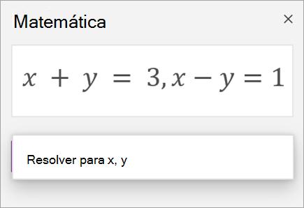 Uma equação de sistemas escrita com uma vírgula