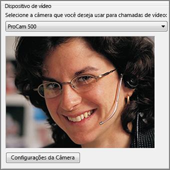 captura de tela das opções de vídeo