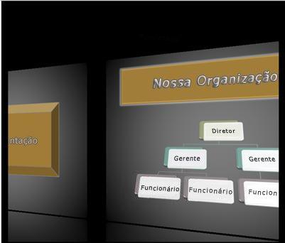 Uma transição Galeria durante uma apresentação de slide