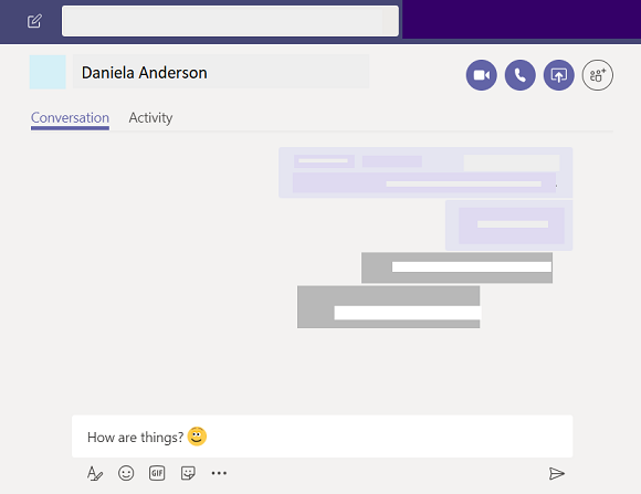 Iniciar um chat no Microsoft Teams.