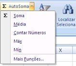 usando o recurso contar números do comando autosoma