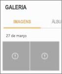 Um arquivo de imagem criptografado no aplicativo Galeria.