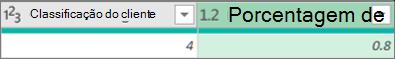 Adicionar uma coluna para obter uma porcentagem de um número
