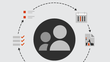 Símbolos para clientes e listas e relatórios