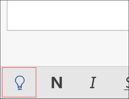 Clique na lâmpada para ativar o recurso Diga-me