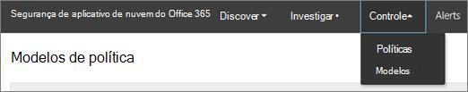 No portal do Office 365 autoridades de certificação, escolha o controle