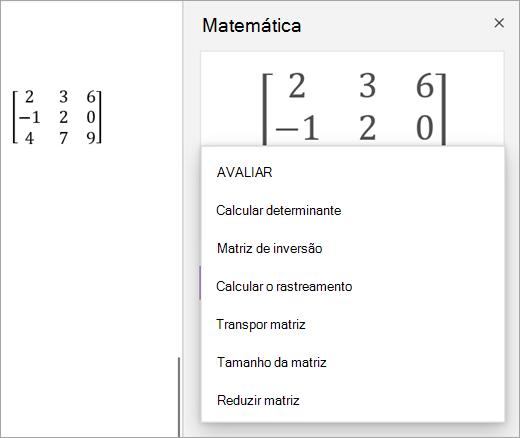 Opções de solução para matrizes