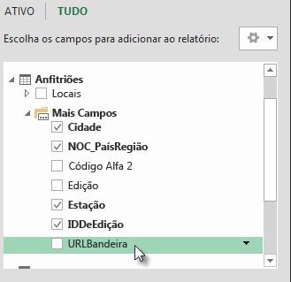 O URLdaBandeira é adicionado à tabela Anfitriões