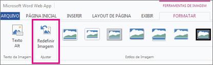 Escolha Formato, em seguida, Redefinir Imagem para remover todas as alterações