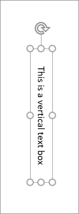 Caixa de texto vertical com texto vertical