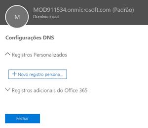 Selecionar configurações de DNS