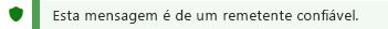 Uma captura de tela da notificação de remetente confiáveis.