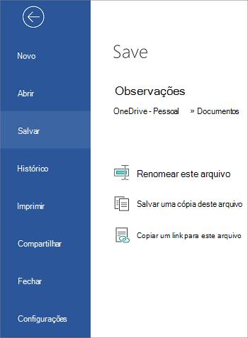 Salve seu arquivo