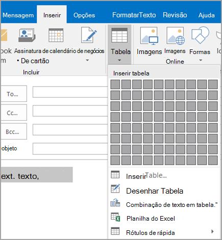Converter texto em tabela