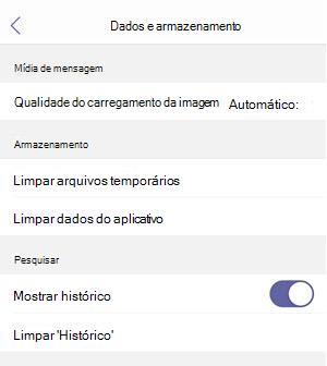 dados e armazenamento no iOS