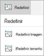 Redefinir menu