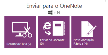 The Send to OneNote tool