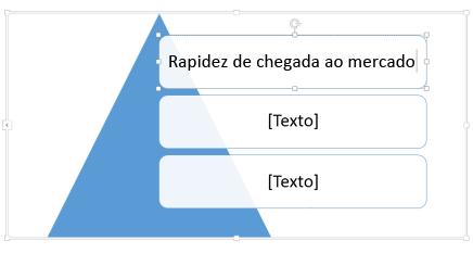 Clique em [Texto] e então digite seu texto