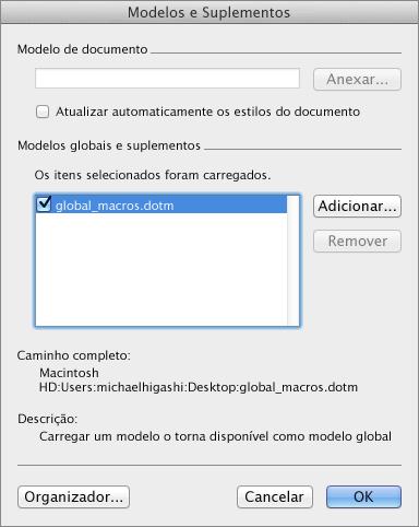 Modelo de configuração Global no Word