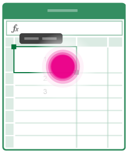 Abrir o menu de edição de célula