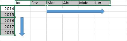 Preencher dados em uma série
