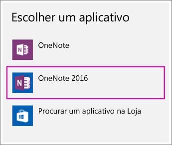 Captura de tela da opção Escolher um Aplicativo nas configurações do Windows 10.