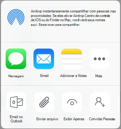 Compartilhar no OneDrive