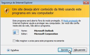 Caixa de diálogo de segurança do Internet Explorer