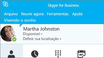 Introdução ao Skype for Business 2016