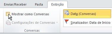 Caixa de diálogo Mostrar como Conversas na faixa de opções