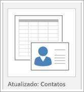 Ícone para exibir opções de modelo de banco de dados