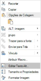 Menu de texto alt do Excel Win32 Edit para imagens