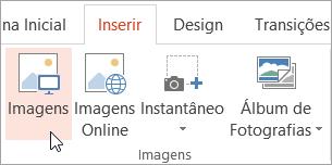 Botão Imagens na guia Inserir