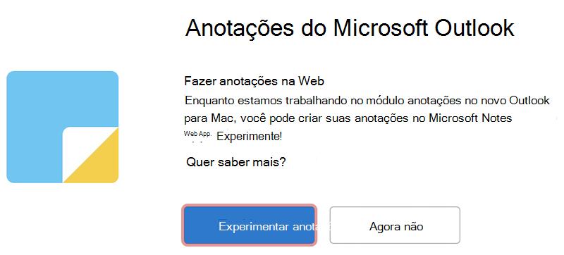 Experimente o Microsoft Notes na Web