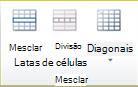 Grupo Mesclar células da tabela no Publisher 2010