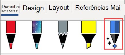 Exibe as ferramentas de desenho