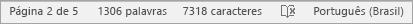 Mostrando a contagem de caracteres na barra de status
