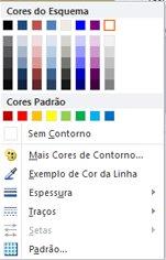 Opções de formatação de contorno da forma de WordArt no Publisher 2010