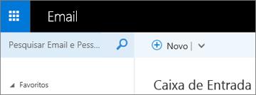Qual é a aparência da faixa de opções no Outlook Web App