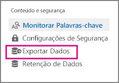 Comando de exportação de dados