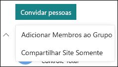 Convidar pessoas para seu site do SharePoint