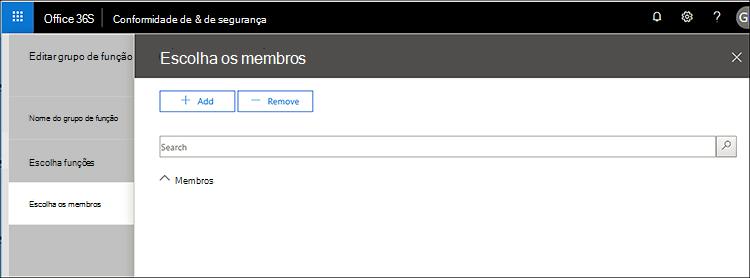 Usuário de garantia de serviço - escolher usuário