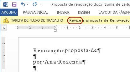 Aprovar texto na barra de mensagens do item