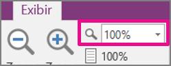 Aplicar zoom para 100%