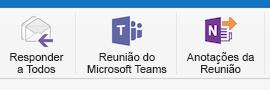 Botão Reunião do Microsoft Teams na Faixa de opções