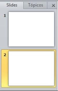 o painel que contém as guias estrutura de tópicos e slide