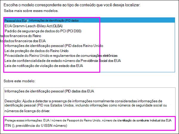 Modelos de política DLP